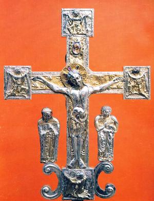silbernes vortragekreuz aus st. trudpert